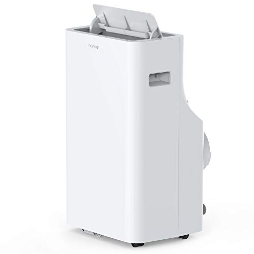 hOmelabs Portable Air Conditioner - 14000 BTU Quiet AC with Removable Washable Filter - Cooling Fan with Remote Control, LED Control Panel, Indicator Lights and Wheels for Easy Mobility