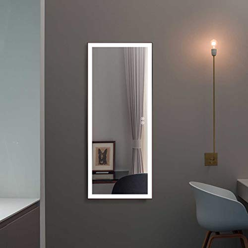 DP Home Large Mirror with Lights, LED Bathroom Mirror for Wall, Horizontally Wall Mounted Lighted Vanity Mirror, Mirrors Above Sink, 71X32 in E-CK010-A