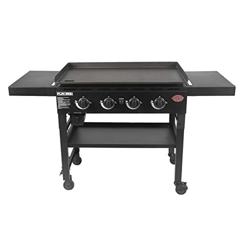Char-Griller E8936 Flat Iron 36' Gas Griddle, Black