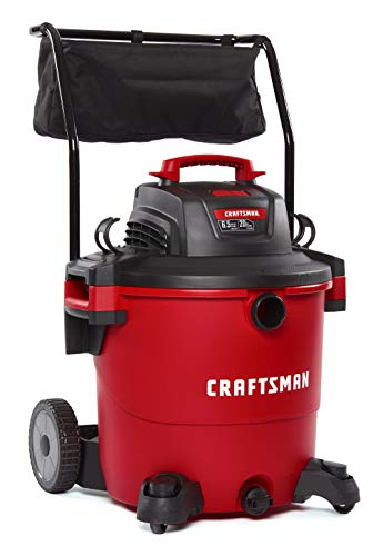 CRAFTSMAN CMXEVBE17656 20 gallon 6.5 Peak Hp Wet/Dry Vac with Cart, Heavy-Duty Shop Vacuum with Attachments