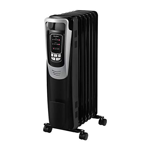 PELONIS Electric 1500W Oil Filled Radiator Heater with Safety Protection, LED Display, 3 Heat Settings and Five Temperature settings. Perfect for for Home or Office
