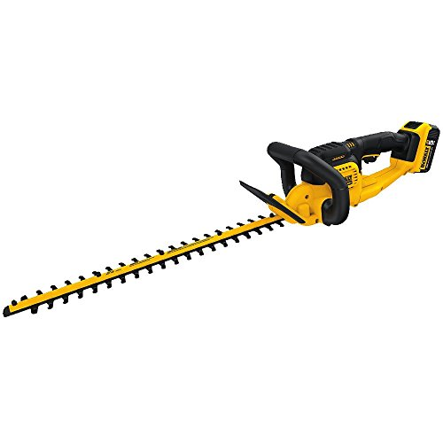 DEWALT 20V MAX Cordless Hedge Trimmer, 5.0 Ah, 22-Inch (DCHT820P1)