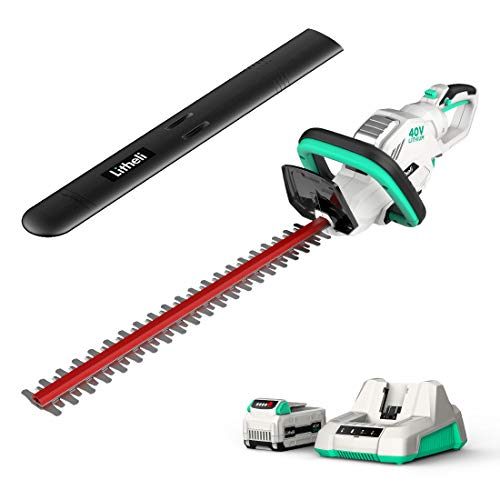 LiTHELi Cordless Hedge Trimmer 22″, 40V Battery Bush Trimmer Electric Hedge Trimmer for Pruning, with 2.0AH Battery and Charger