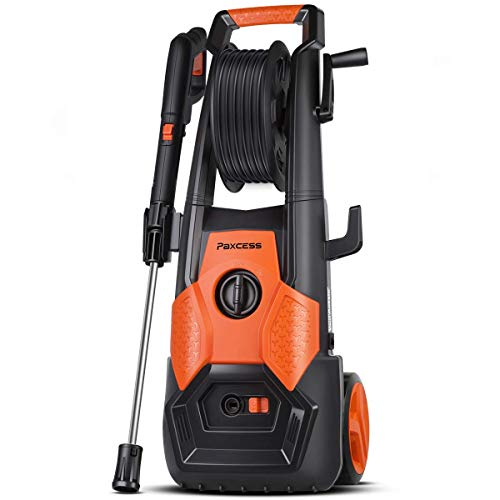 PAXCESS Electric Pressure Washer 2150 PSI 1.85 GPM High Pressure Power Washer Machine with All-in-One Nozzle, Hose Reel, Detergent Tank Best for Cleaning Homes/Buildings/Cars, Decks, Driveways, Patios
