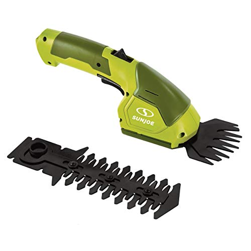 Sun Joe 7.2-Volt 2-in-1 1250-RPM Cordless Grass Shear / Shrubber Handheld Trimmer, Rechargeable On-board Lithium-Ion Battery and Charger Included