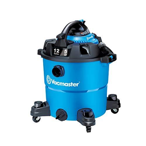 Vacmaster VBV1210, 12-Gallon 5 Peak HP Wet/Dry Shop Vacuum with Detachable Blower, Blue