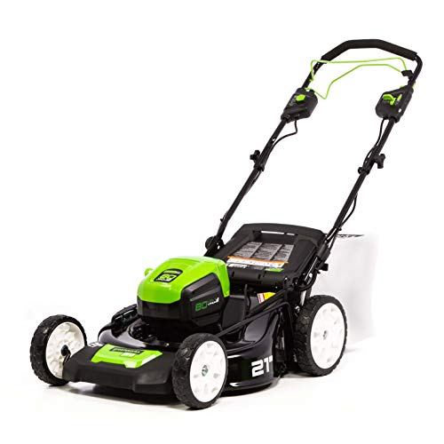 Greenworks PRO 21-Inch 80V Brushless Self-Propelled Cordless Lawn Mower, Battery Not Included MO80L00