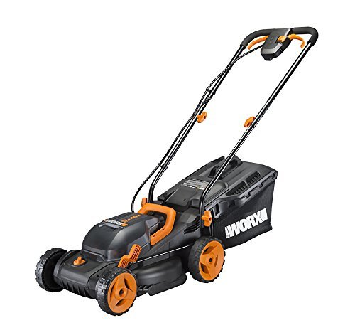 WORX WG779 2x20V (4.0AH) Cordless 14' Lawn Mower with Mulching Capabilities and Intellicut, Dual Charger, 2 Batteries