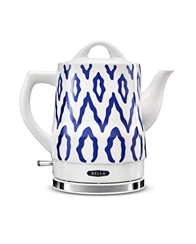 BELLA (14744) 1.5 Liter Electric Tea Kettle Blue Aztec