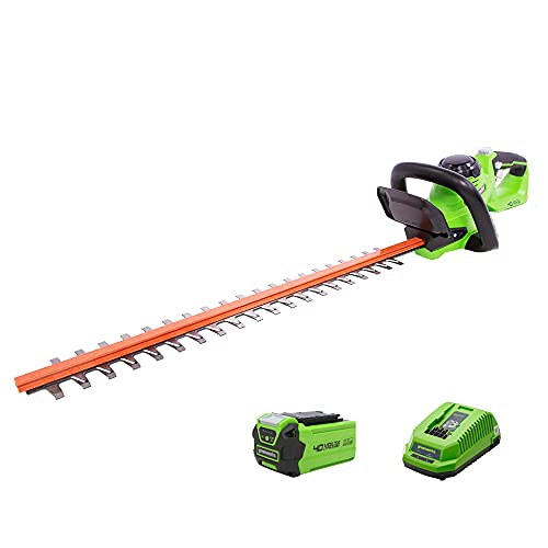 Greenworks 40V 24 inch Cordless Hedge Trimmer, 2Ah Battery and Charger Included, HT40B210