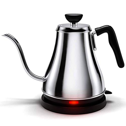 Electric Gooseneck Kettle - 1L, 120 Volt, Stainless Steel Electric Tea Kettle - Water Pot Heater/Warmer, Coffee & Tea