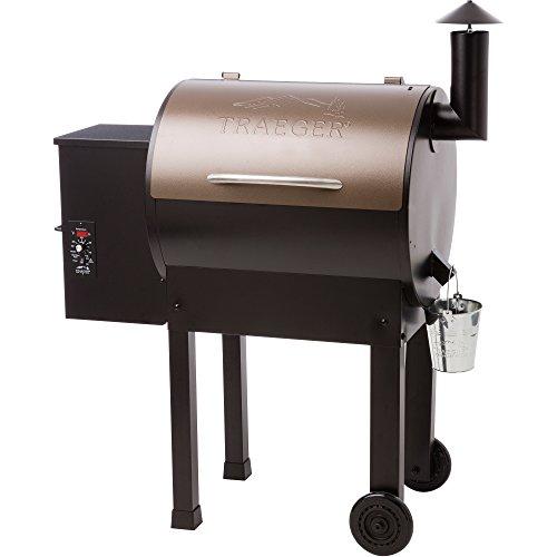 Traeger TFB42LZBC Grills Lil Tex Elite 22 Wood Pellet Grill and Smoker - Grill, Smoke, Bake, Roast, Braise, and BBQ (Bronze)