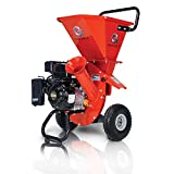 GreatCircleUSA Wood Chipper Shredder Mulcher Heavy Duty 212cc Gas Powered 3 in 1 Multi-Function 3' Inch Max Wood Diameter Capacity EPA/CARB Certified Aids in Fire Prevention & Building a Firebreak