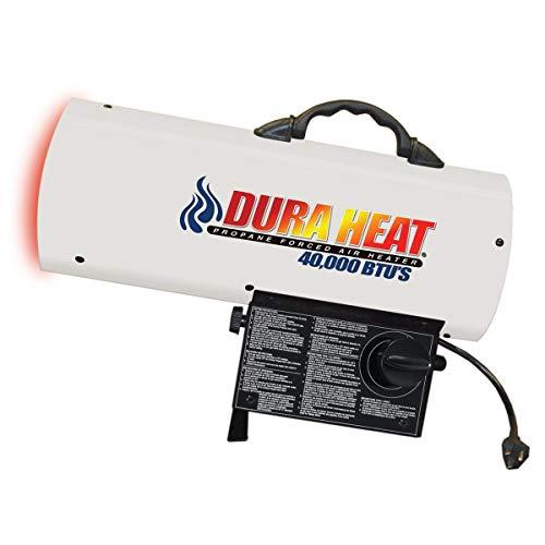 Dura Heat Propane Forced AIR Heater, 30,000-60,000 BTU, White