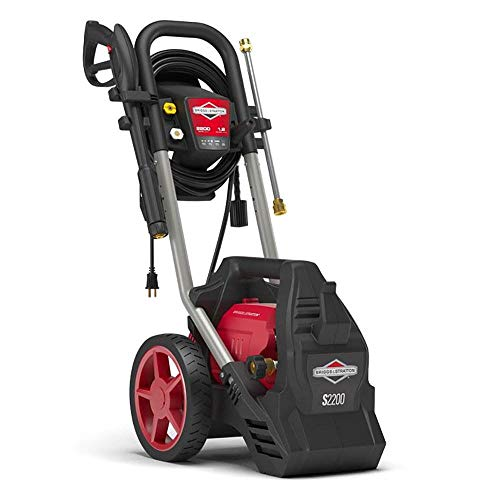 Briggs & Stratton S2200 2200 MAX PSI at 1.0 GPM Electric Pressure Washer with Detergent Foamer, 25-Foot High-Pressure Hose, and Turbo Nozzle