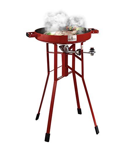 Original FIREDISC 36' Tall Outdoor Portable Propane Cooker | Red