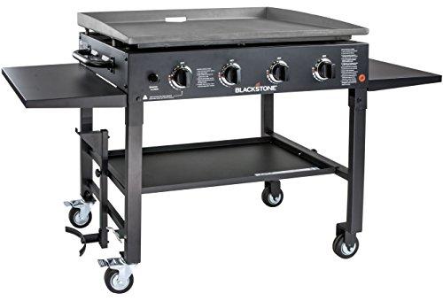 Blackstone 1554 Station-4-burner-Propane Fueled-Restaurant Grade-Professional 36 inch Outdoor Flat Top Gas Grill Griddle Station-4-bur, 36' - 4 Burner