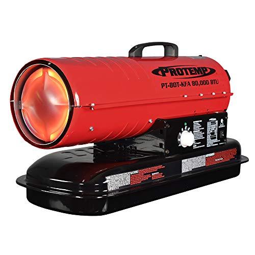 Pro-Temp 80,000 BTU Kerosene/Diesel Forced Air Torpedo Heater