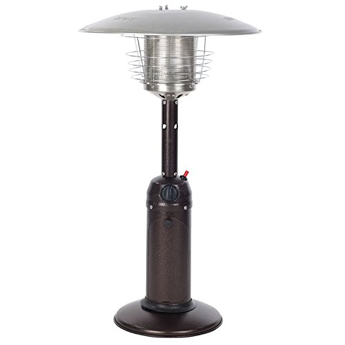 Fire Sense 61322 Hammer Tone Table Top Patio Heater, Bronze