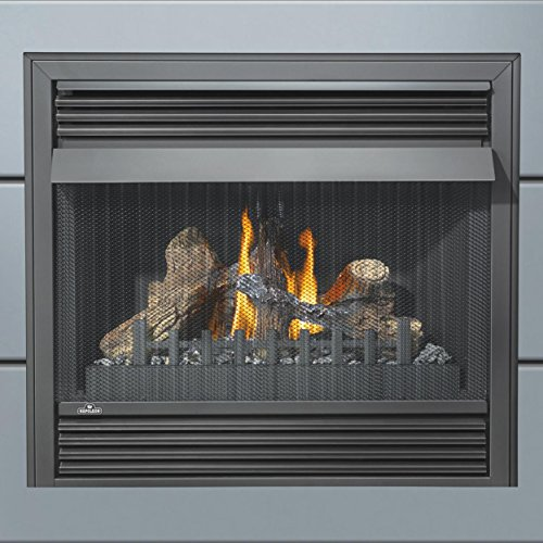 Napoleon Grandville VF Series GVF36-2N 37' Vent Free Natural Gas Fireplace with Millivolt Ignition Up to 30 000 BTU's Pan Style Burner PHAZER Log Set Oxygen Depletion Sensor and 100% SAF
