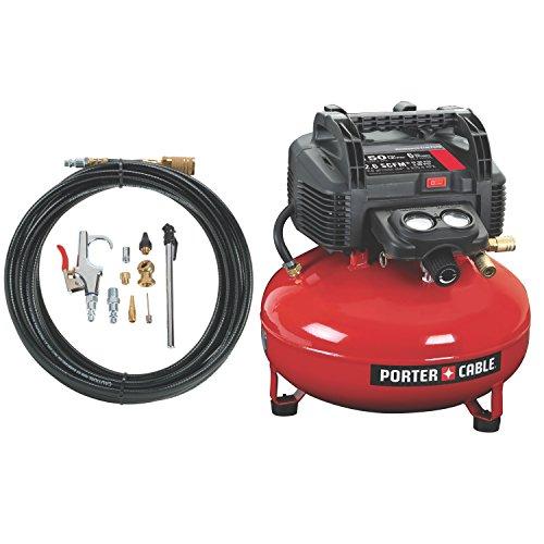 PORTER-CABLE Compressor, Oil-Free, UMC Pancake, 13-Piece Accessory Kit, 6-Gallon, 150 PSI (C2002-WK)