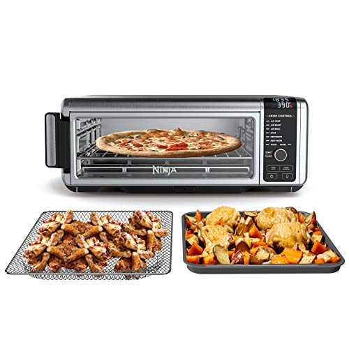 Ninja SP101 Foodi 8-in-1 Digital Air Fry, Large Toaster Oven, Flip-Away for Storage, Dehydrate, Keep Warm, 1800 Watts, XL Capacity, Stainless Steel
