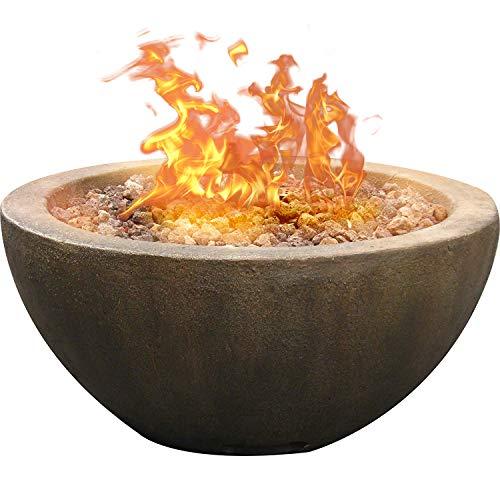 Bond Manufacturing 67505 Mondavi Gas Fire Pit, 28-Inch, Lt Brown