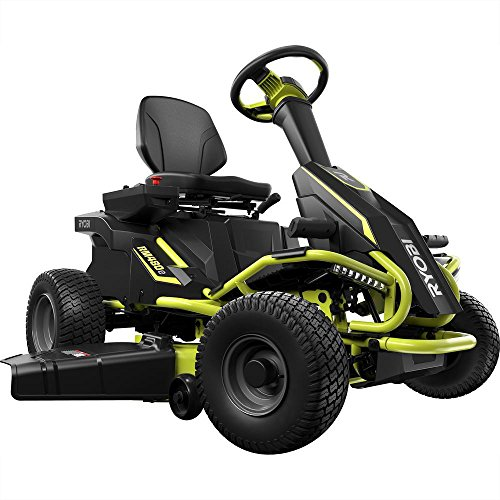 Ryobi 38 inches 100 Ah Battery Electric Rear Engine Riding Lawn Mower RY48111