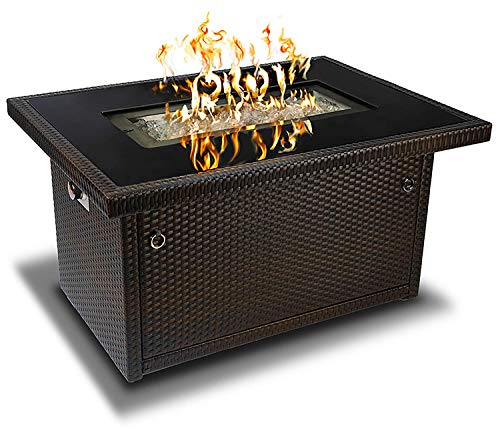Outland Living Series 403-Espresso Brown Fire Table, Espresso Brown/50,000 BTU